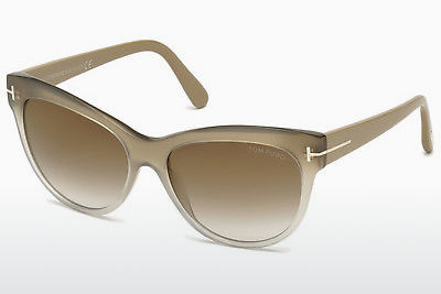 solbrille Tom Ford Lily (FT0430 59G) - Horn, Beige, Brown