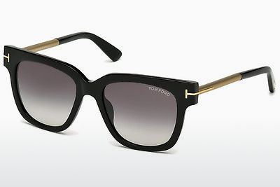 solbrille Tom Ford Tracy (FT0436 01B) - Sort, Shiny