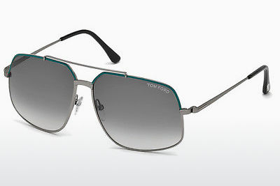 solbrille Tom Ford Ronnie (FT0439 88B) - Blå, Turquoise, Matt