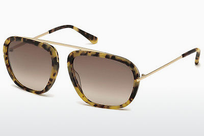 solbrille Tom Ford Johnson (FT0453 53F) - Havanna, Yellow, Blond, Brown