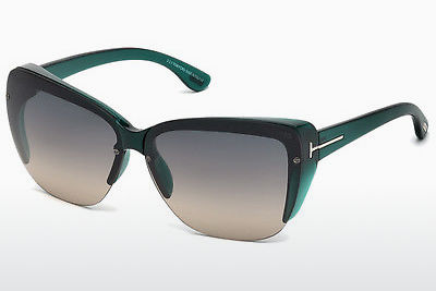 solbrille Tom Ford FT0457 87B - Blå, Turquoise, Shiny