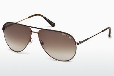 solbrille Tom Ford Erin (FT0466 49E) - Brun, Matt