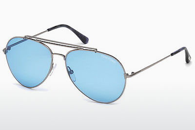 solbrille Tom Ford Indiana (FT0497 14V) - Grå, Shiny, Bright