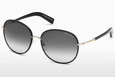 solbrille Tom Ford Georgia (FT0498 01B) - Sort, Shiny
