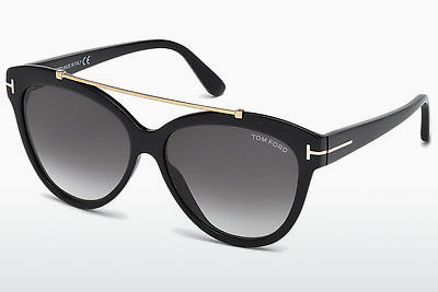 solbrille Tom Ford Livia (FT0518 01B) - Sort, Shiny