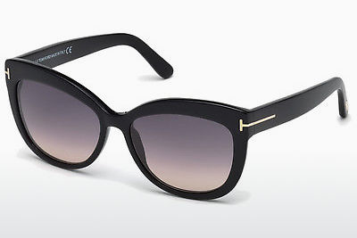 solbrille Tom Ford Alistair (FT0524 01B) - Sort, Shiny