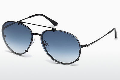 solbrille Tom Ford Dickon (FT0527 01W) - Sort, Shiny