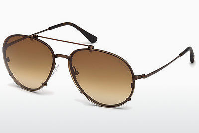 solbrille Tom Ford Dickon (FT0527 49J) - Brun, Dark, Matt