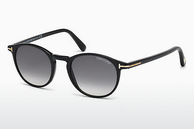 solbrille Tom Ford Andrea (FT0539 01B) - Sort, Shiny