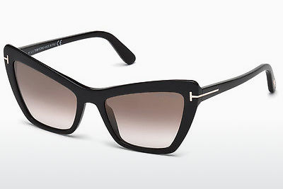 solbrille Tom Ford Valesca (FT0555 01G) - Sort, Shiny