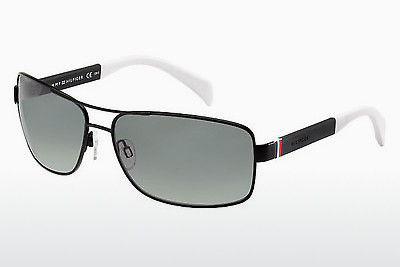solbrille Tommy Hilfiger TH 1258/S 4NL/WJ - Sort, Hvit