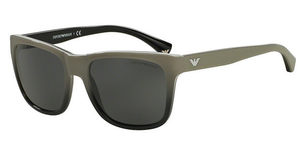 Emporio Armani EA4041 534687 GREYWHITE GRADIENT BLACK ON BLACK