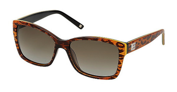 Escada SES307 0AFT BROWN GRADIENTLEOPARDO SFUMATO NERO LUCIDO