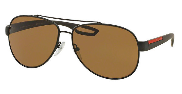 Prada Sport PS 55QS UEA5Y1 POLAR BROWNBROWN RUBBER