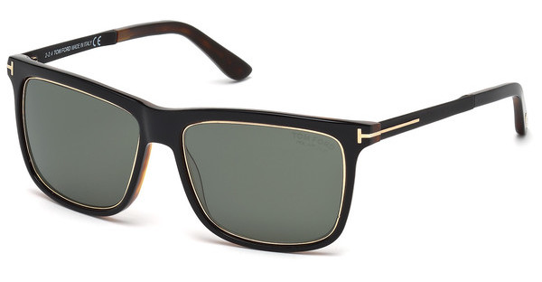 Tom Ford FT0392 01R grün polarieisrendschwarz glanz