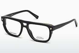 brille Dsquared DQ5237 001 - Sort, Shiny
