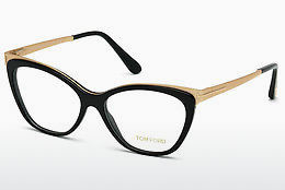 brille Tom Ford FT5374 001 - Sort, Shiny