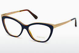 brille Tom Ford FT5374 090 - Blå, Shiny