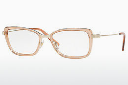 brille Versace VE1243 1401 - Gull, Brun, Transparent