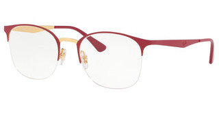 Ray-Ban RX6422 3046 TOP MATTE RED ON SHINY GOLD