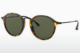 solbrille Ray-Ban Round/classic (RB2447 1157) - Sort, Brun, Havanna