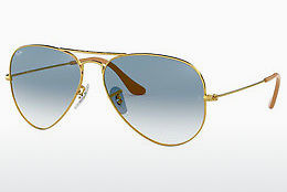 solbrille Ray-Ban AVIATOR LARGE METAL (RB3025 001/3F) - Gull