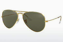 solbrille Ray-Ban AVIATOR LARGE METAL (RB3025 001/58) - Gull