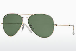 solbrille Ray-Ban AVIATOR LARGE METAL (RB3025 001) - Gull