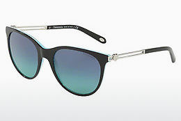 solbrille Tiffany TF4139 81939S - Sort, Brun, Havanna, Blå