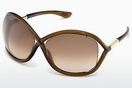 solbrille Tom Ford Whitney (FT0009 692) - Brun, Dark, Shiny