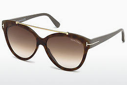 solbrille Tom Ford Livia (FT0518 53F) - Havanna, Yellow, Blond, Brown