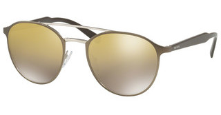 Prada PR 62TS VIX6O0 LT BROWN MIRROR GOLD GRADIENTMATTE LIGHT BROWN/SILVER