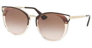 Prada PR 66TS LMN0A6 BROWN GRADIENTSTRIPED BROWN