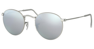 Ray-Ban RB3447 019/30 LIGHT GREEN MIRROR SILVERMATTE SILVER