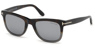 Tom Ford FT0336 55C grau verspiegelthavanna bunt