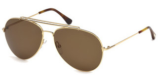 Tom Ford FT0497 28H braun polarisierendrosé-gold glanz