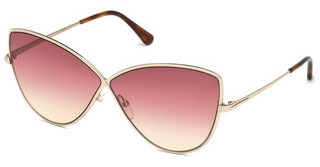 Tom Ford FT0569 28T bordeaux verlaufendrosé-gold glanz