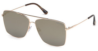 Tom Ford FT0651 28C grau verspiegeltrosé-gold glanz