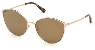 Tom Ford FT0654 28G braun verspiegeltrosé-gold glanz