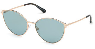 Tom Ford FT0654 28X blau verspiegeltrosé-gold glanz