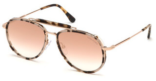 Tom Ford FT0666 55Z verspiegelthavanna bunt