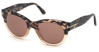 Tom Ford FT0741 55E braunhavanna bunt