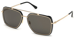 Tom Ford FT0750 01D grau polarisierendschwarz glanz