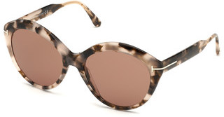 Tom Ford FT0763 55E braunhavanna bunt
