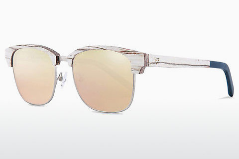 solbrille Kerbholz Albert White Birch