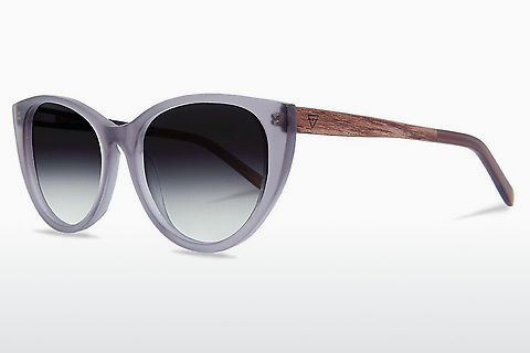 solbrille Kerbholz Martha Dark Grey