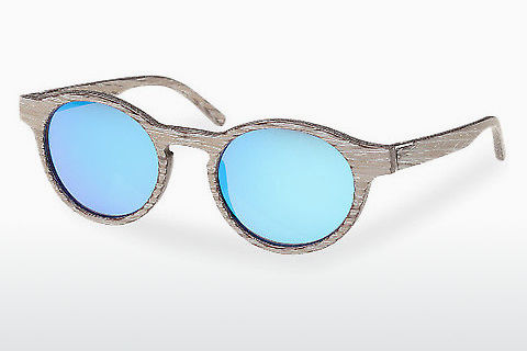 solbrille Wood Fellas Flaucher (10754 chalk oak/blue)