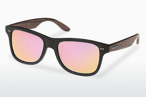 solbrille Wood Fellas Lehel (10757 rosewood/black/rose)
